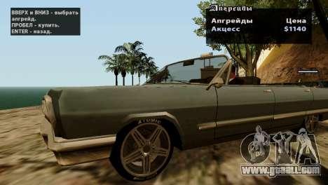 Wheels from GTA 5 v2 for GTA San Andreas forth screenshot