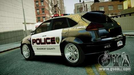 Subaru Impreza WRX STI Police for GTA 4 left view