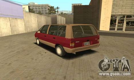 Renault Espace 2000 GTS for GTA San Andreas back view