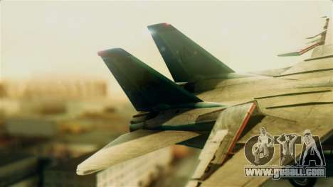 F-14D VF-213 Black Lions for GTA San Andreas back left view