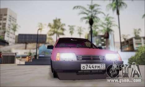 VAZ 21099 for GTA San Andreas inner view