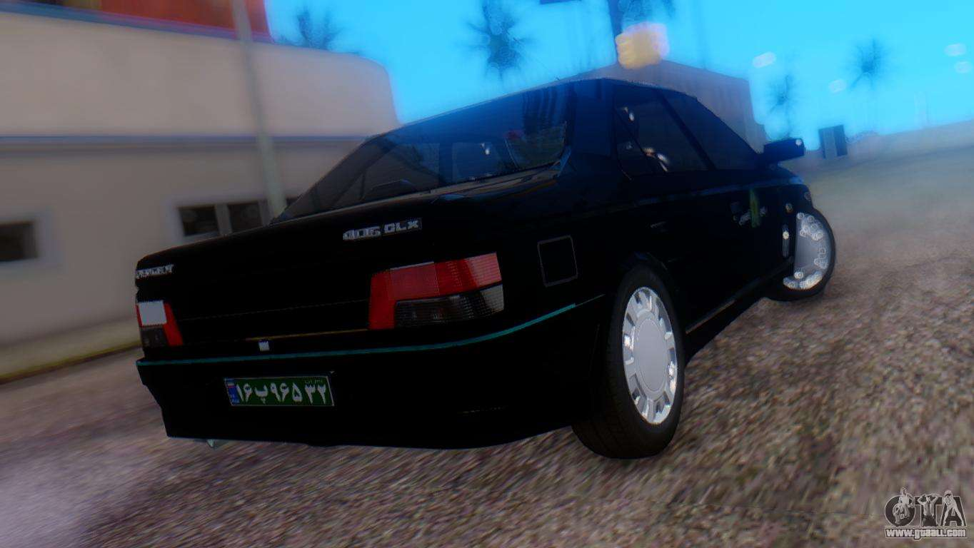 peugeot 405 glx police for gta san andreas