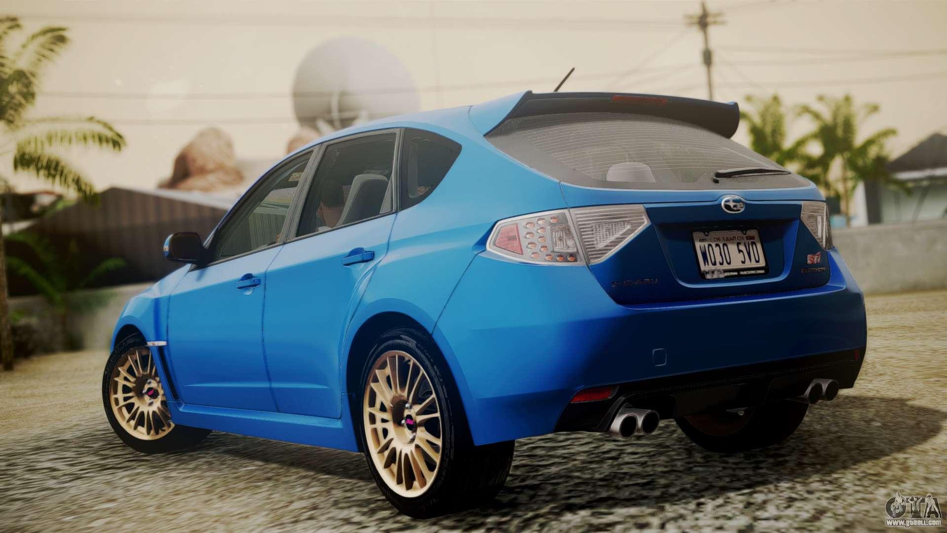 08 Wrx Hatchback >> Subaru Impreza WRX STI 2008 PJ for GTA San Andreas