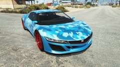 Dinka Jester (Racecar) Camo Blue for GTA 5