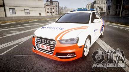 Audi S4 Avant Belgian Police [ELS] orange for GTA 4