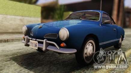 Volkswagen Karmann-Ghia Coupe (Typ 14) 1955 HQLM for GTA San Andreas
