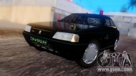 Peugeot 405 GLX Police for GTA San Andreas