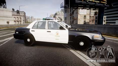 Ford Crown Victoria 2011 LAPD [ELS] rims2 for GTA 4 left view