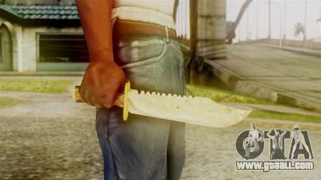 Red Dead Redemption Knife Sergio for GTA San Andreas third screenshot
