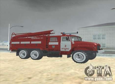 Ural 375 Firefighter for GTA San Andreas back left view