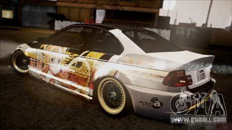 BMW 325t E46 LCI SAO Itasha for GTA San Andreas back left view
