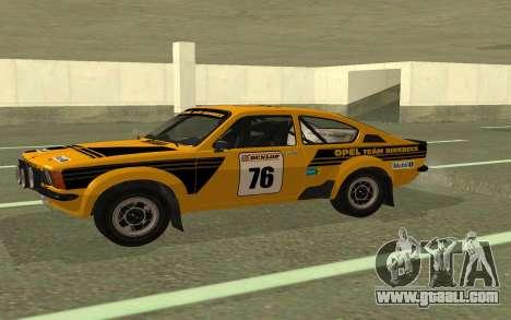 Opel Kadett Rally for GTA San Andreas