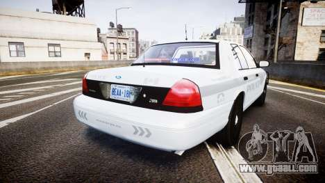 Ford Crown Victoria Bohan Police [ELS] unmarked for GTA 4 back left view