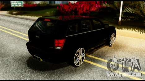 Jeep Grand Cherokee SRT8 Restyling M Final for GTA San Andreas back left view