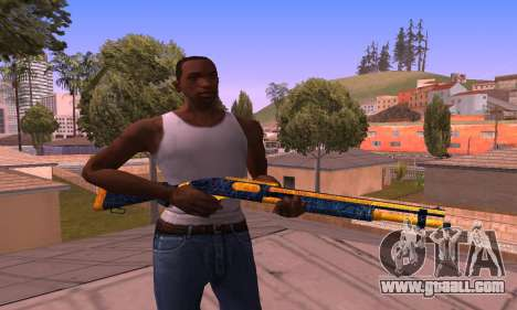 Shotgun BlueYellow for GTA San Andreas