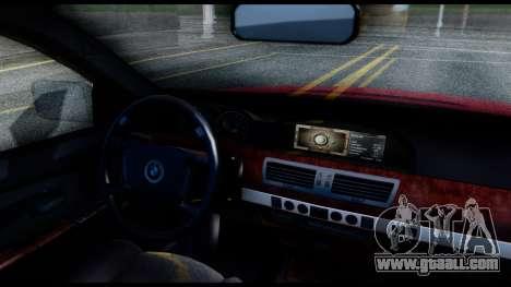 BMW 760Li E66 for GTA San Andreas right view