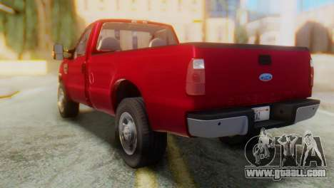 Ford F-350 Super Duty Regular Cab 2008 IVF АПП for GTA San Andreas back left view