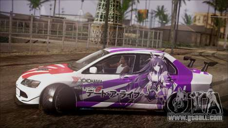 Mitsubishi Lancer Evolution VIII Yatogami Itasha for GTA San Andreas left view