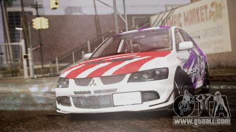 Mitsubishi Lancer Evolution VIII Yatogami Itasha for GTA San Andreas