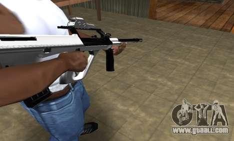 Chrome AUG for GTA San Andreas
