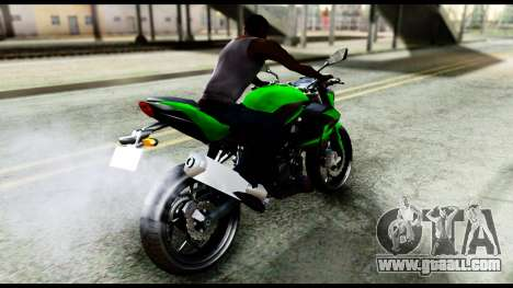 Kawasaki Z250SL Green for GTA San Andreas back left view