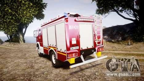 Mercedes-Benz Atego 1530 Firetruck [ELS] for GTA 4 back left view