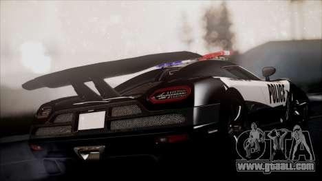 NFS Rivals Koenigsegg Agera R for GTA San Andreas