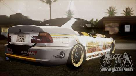 BMW 325t E46 LCI SAO Itasha for GTA San Andreas left view