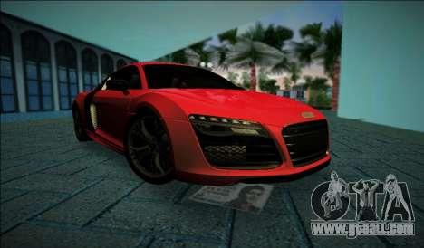 Audi R8 V10 Plus 2014 for GTA Vice City