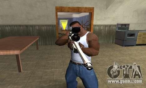 Gold Dragon Sniper Rifle for GTA San Andreas second screenshot