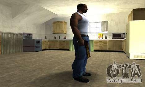 Yellow Jungle Deagle for GTA San Andreas second screenshot