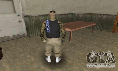 Rifa Skin Third for GTA San Andreas fifth screenshot