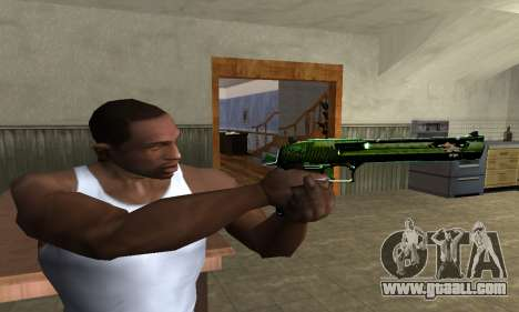 Green Clayn Deagle for GTA San Andreas third screenshot