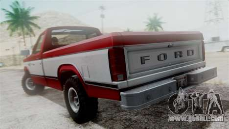 Ford F-150 Ranger 1984 for GTA San Andreas back view