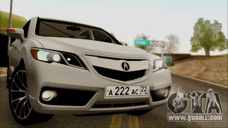 Acura RDX 2009 for GTA San Andreas back left view
