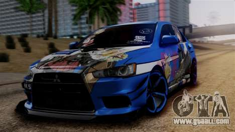 Mitsubishi Lancer Evolution X Taihou Itasha for GTA San Andreas