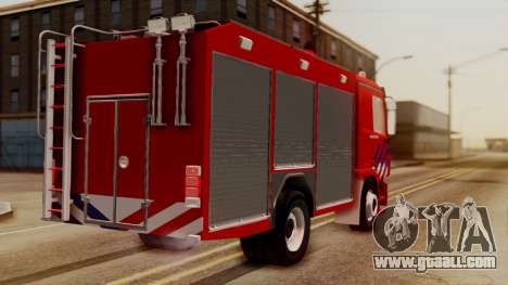 Mercedes-Benz Actros Bomberos for GTA San Andreas left view