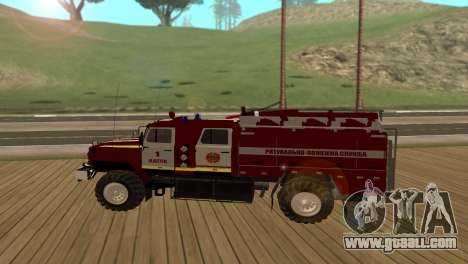 Ural 5557-40 the Ministry of emergency situation for GTA San Andreas left view