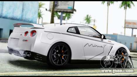 Nissan GT-R R35 2012 for GTA San Andreas left view