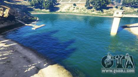 The water in the 2K v1.5 for GTA 5