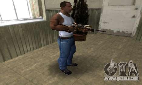 Leopard Sniper Rifle for GTA San Andreas third screenshot