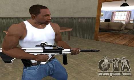 Chrome AUG for GTA San Andreas second screenshot
