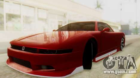 Infernus BMW Revolution with Plate for GTA San Andreas back left view