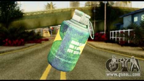 Brasileiro Grenade for GTA San Andreas second screenshot