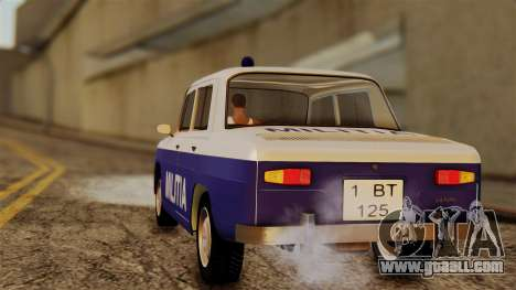 Dacia 1100 Militia for GTA San Andreas left view