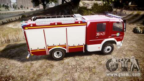 Mercedes-Benz Atego 1530 Firetruck [ELS] for GTA 4 left view