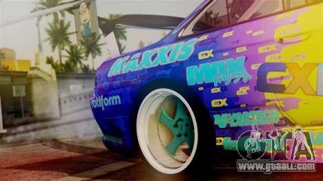 Nissan Silvia S14 Kouki Matt Faileds for GTA San Andreas back view