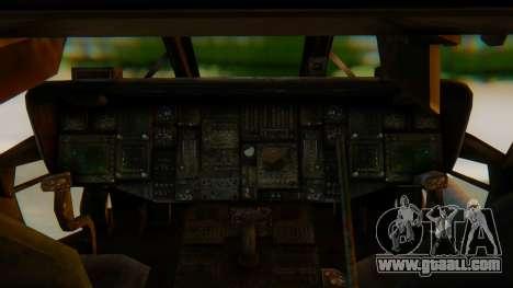 MH-60L Blackhawk for GTA San Andreas back view