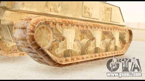 M4 Sherman 75mm Gun Desert for GTA San Andreas back left view