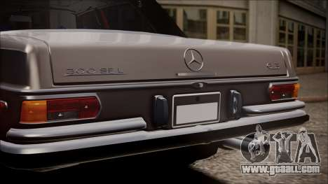 Mercedes-Benz 300 SEL 6.3 for GTA San Andreas back view
